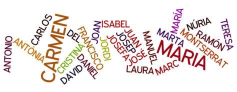 Els noms més comuns a Catalunya