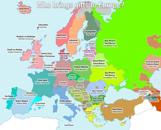A Europa, qui porta els regals per Nadal?