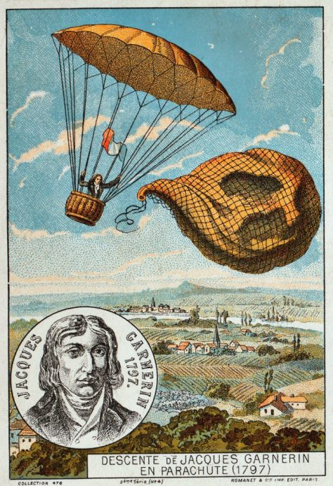 El primer salt en paracaigudes