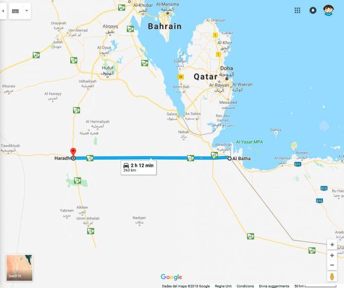 La carretera recta més llarga del món